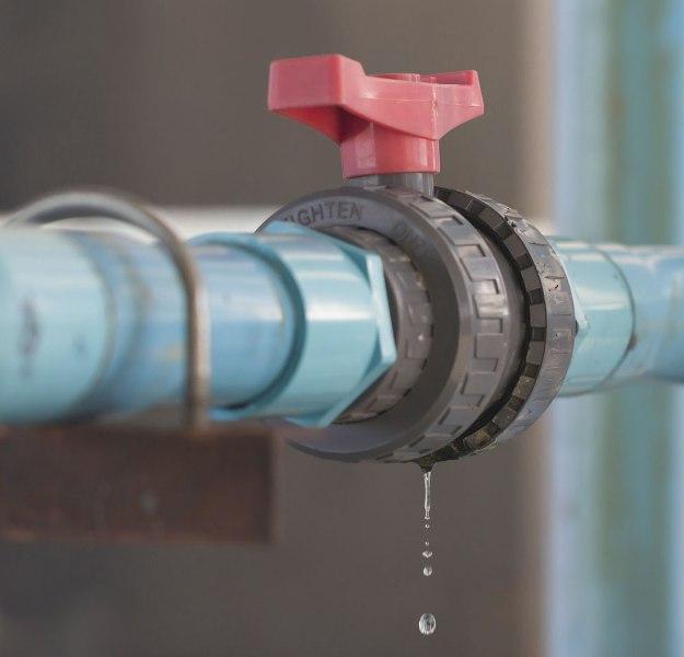 fuite dans le tuyau